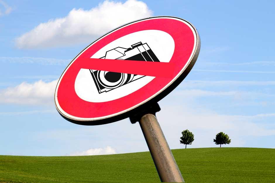 Fotografieren verboten!