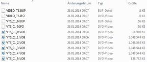 Inhalt eines typischen video_ts-Verzeichnisses.